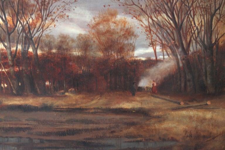 Sunset after Rain - Scottish 19th Century art Glasgow Boy landscape oil painting For Sale 6
