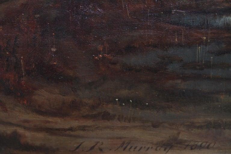 Sunset after Rain - Scottish 19th Century art Glasgow Boy landscape oil painting For Sale 7