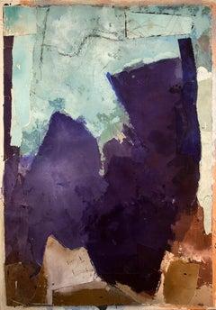 Abstraction in Indigo, Aqua and Sienna
