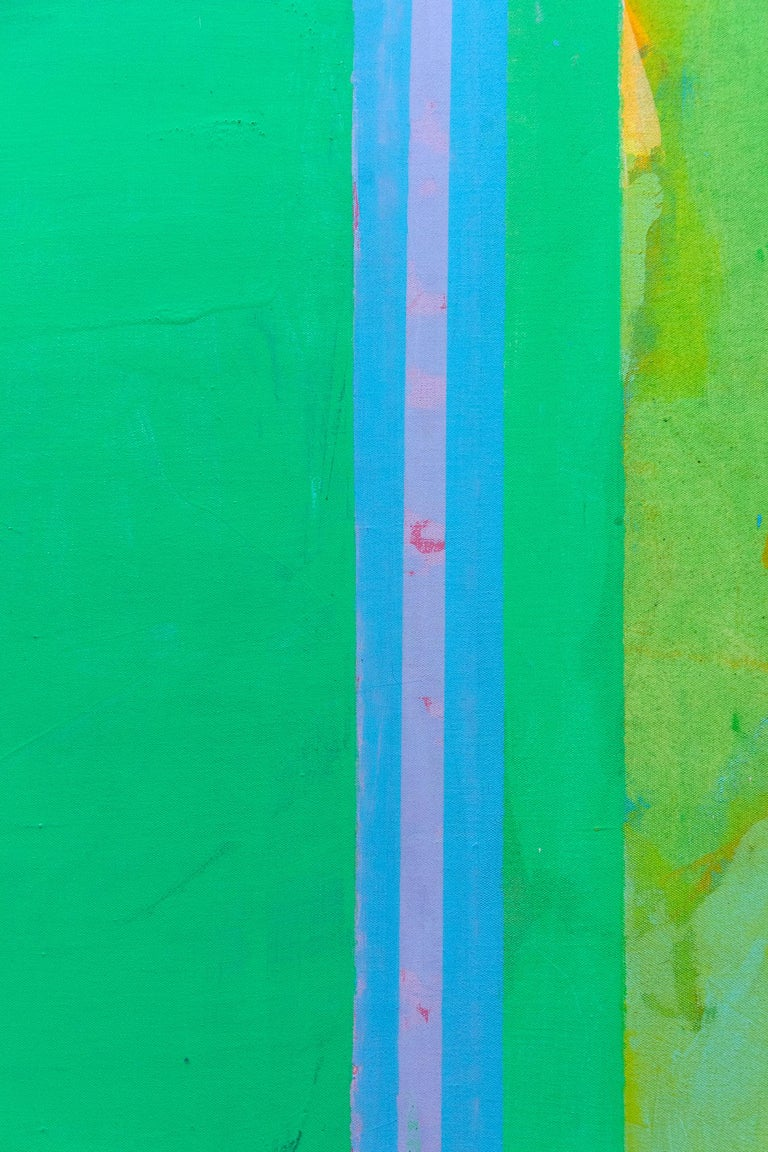 Porphyry Plan - Green Abstract Painting by John Richard Fox