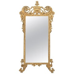 John Richard Giltwood Carved Louis XVI Style Beveled Wall or Console Mirror