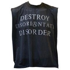 John Richmond 80s Anarchy Detroy Collection Mesh Vest