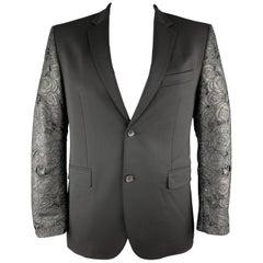 JOHN RICHMOND Black Chest Size 42 Mixed Materials Wool / Elastane Sport Coat