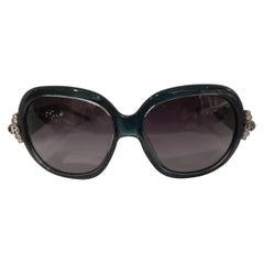 John Richmond blue green sunglasses