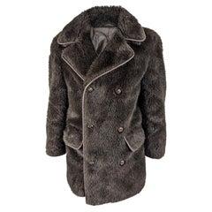 John Richmond Mens Vintage Faux Fur Coat, 1990s