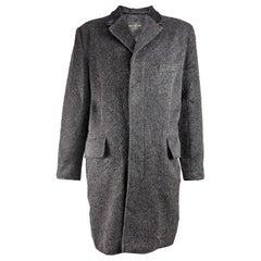 John Richmond Vintage Mens Wool & Calf Hair Coat