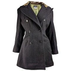 John Richmond Vintage Wool & Faux Fur Coat, 1980s