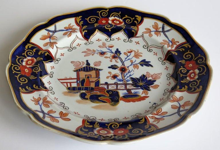 John Ridgway Ironstone Plate Hand Painted Pattern 5101