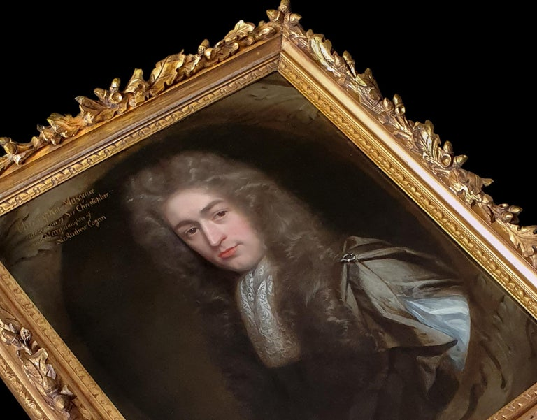Portrait of Christopher Musgrave (1664-1718) circa 1690 - Painting by John Riley