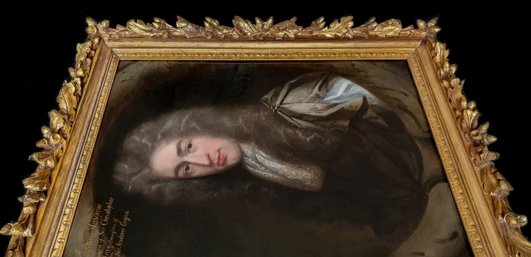 Portrait of Christopher Musgrave (1664-1718) circa 1690 - Old Masters Painting by John Riley