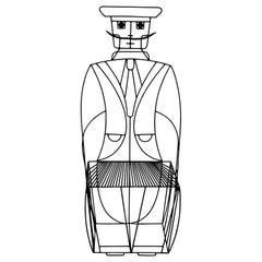 John Risley Black Wrought Iron Figural Chair