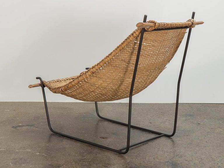 Mid-Century Modern John Risley Duyan Rattan Lounge Chair For Sale