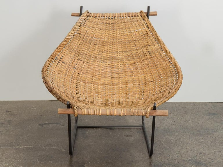 John Risley Duyan Rattan Lounge Chair In Good Condition For Sale In Brooklyn, NY