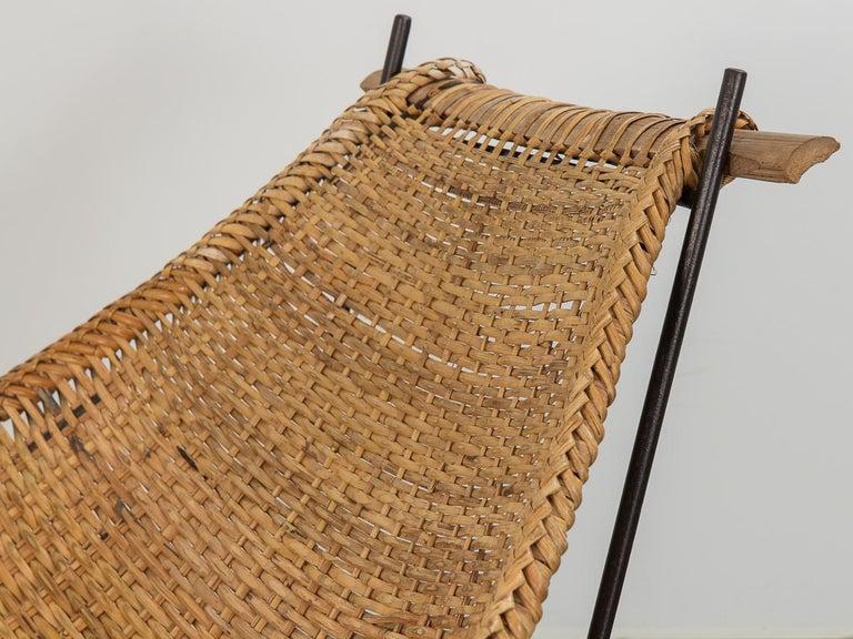 20th Century John Risley Duyan Rattan Lounge Chair For Sale