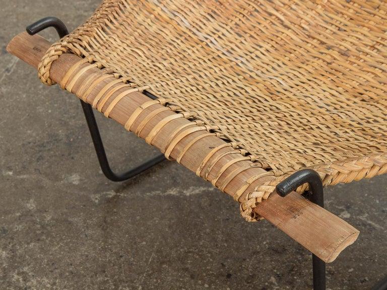 Wicker John Risley Duyan Rattan Lounge Chair For Sale