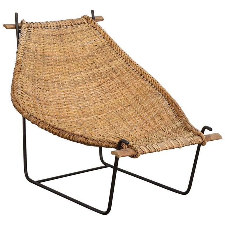 John Risley Duyan Rattan Lounge Chair For Sale