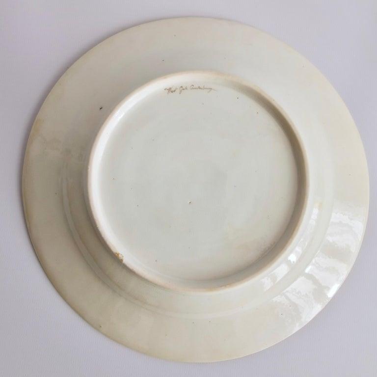 John Rose Coalport Plate, Canterbury landscape Thomas Baxter, Georgian ca 1810 For Sale 3