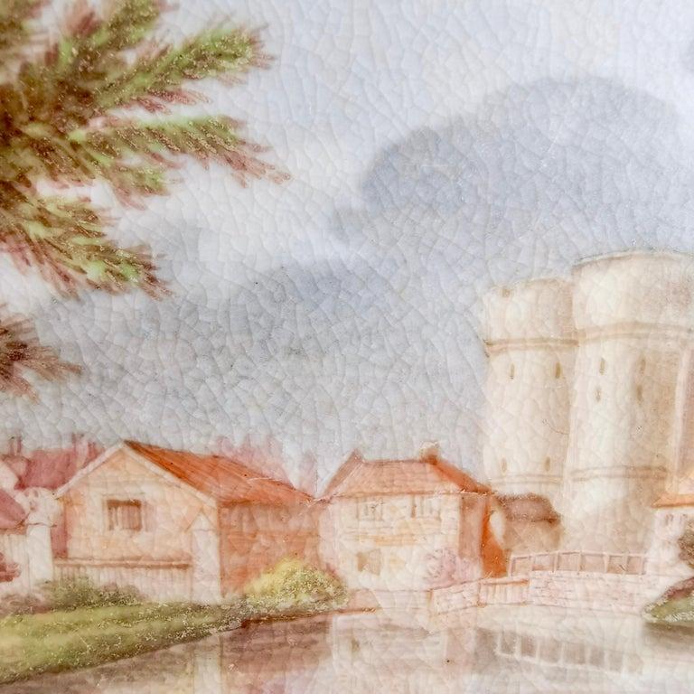 Early 19th Century John Rose Coalport Plate, Canterbury landscape Thomas Baxter, Georgian ca 1810 For Sale