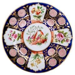 John Rose Coalport Plate, Sèvres Style Birds and Flowers, circa 1815