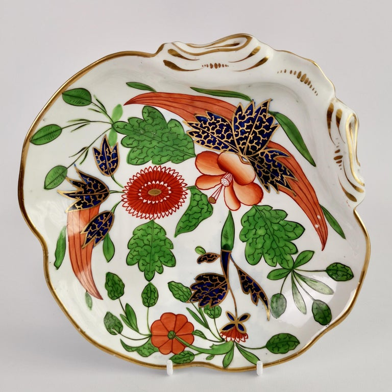 English John Rose Coalport Porcelain Dessert Service, Japan Imari Pattern, circa 1805