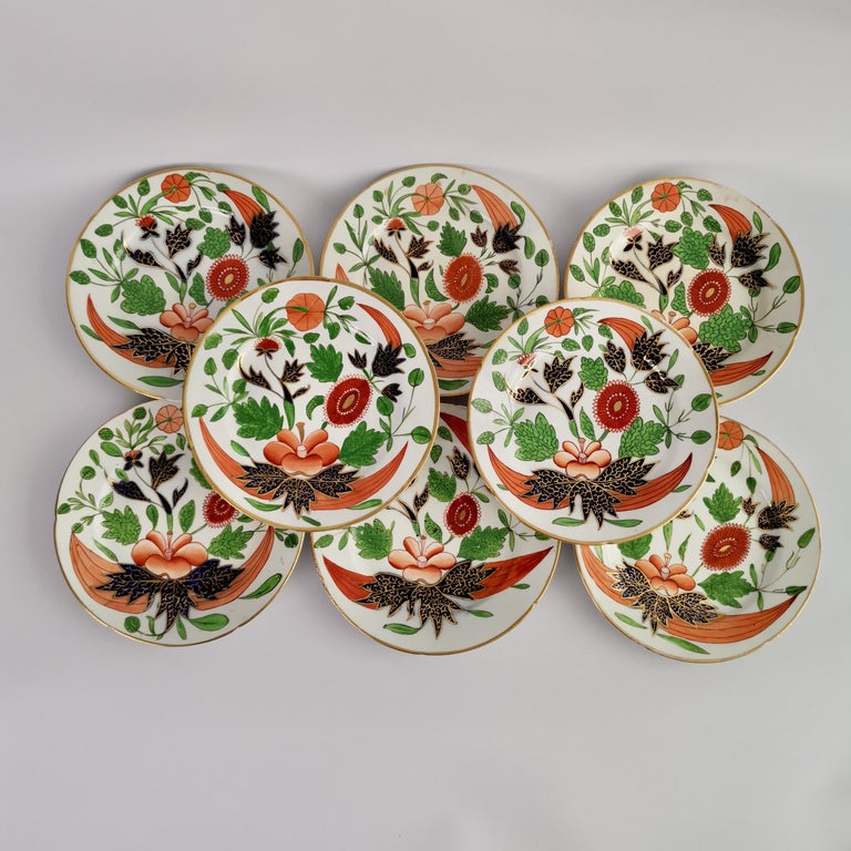 John Rose Coalport Porcelain Dessert Service, Japan Imari Pattern, circa 1805 In Good Condition In London, GB