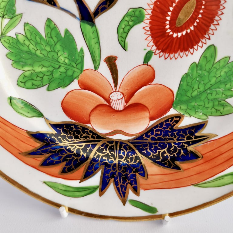Early 19th Century John Rose Coalport Porcelain Dessert Service, Japan Imari Pattern, circa 1805
