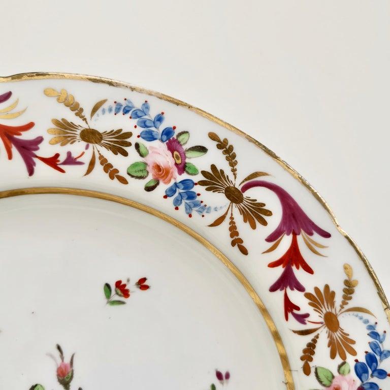 John Rose Coalport Porcelain Plate, Improved Feldspar, Regency Pattern ca 1825 In Good Condition In London, GB