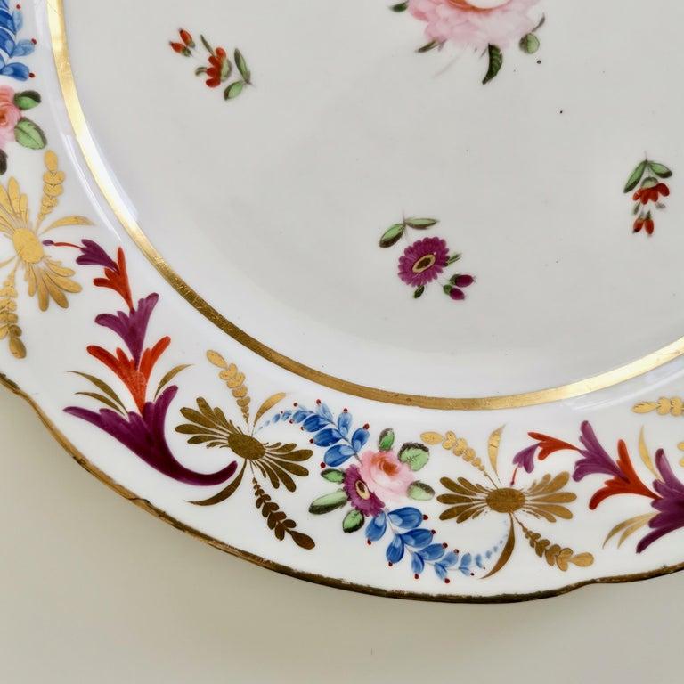John Rose Coalport Porcelain Plate, Improved Feldspar, Regency Pattern ca 1825 1