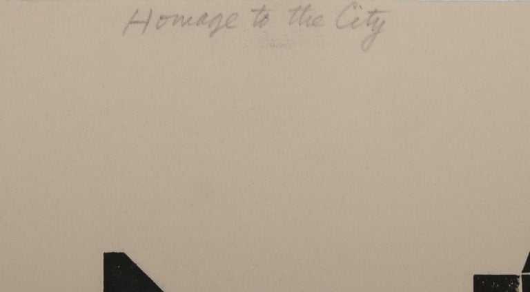 Homage to the City - Day, Triptych For Sale 2