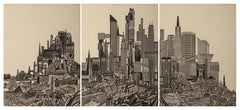 Homage to the City - Day, Triptych