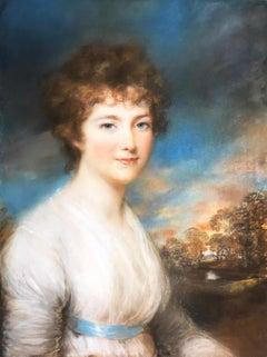Mrs. Thomas Gillow - John Russell - Pastel on Paper - British
