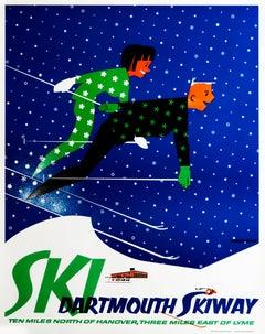 Ski Dartmouth Skiway Original Vintage SKI Poster