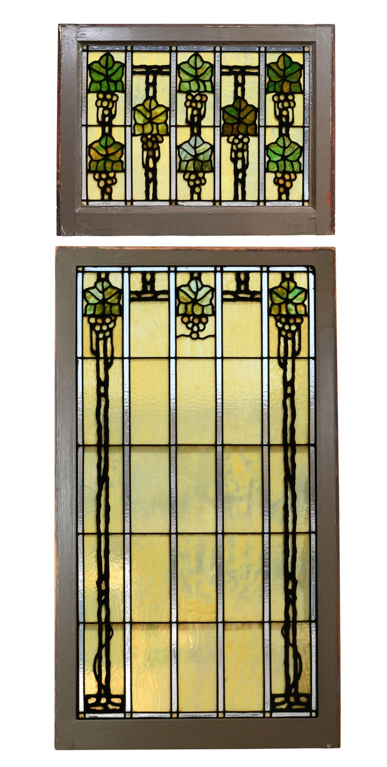 "This incredible set of stained glass windows is attributed to John Bradstreet, a highly prominent craftsman in Minneapolis during the turn-of-the-century. Working out of the Minneapolis Crafthouse, he was an influential ""taste-maker"" in his pursuit"