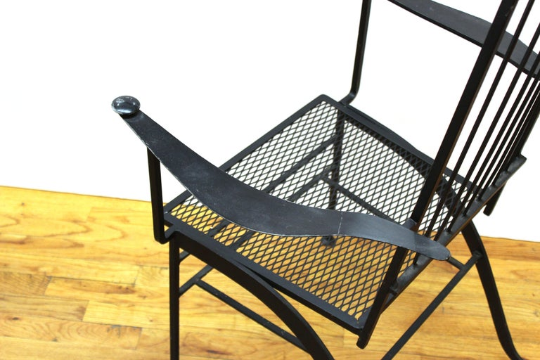 John Salterini For Woddard Mid-Century Modern Iron Patio Chairs For Sale 4
