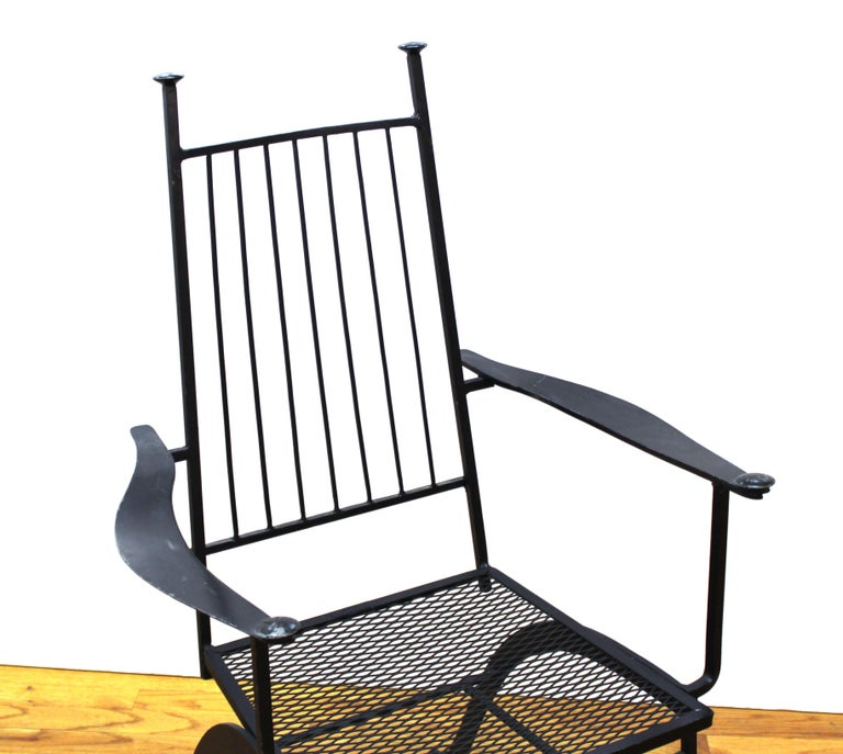 John Salterini For Woddard Mid-Century Modern Iron Patio Chairs For Sale 6