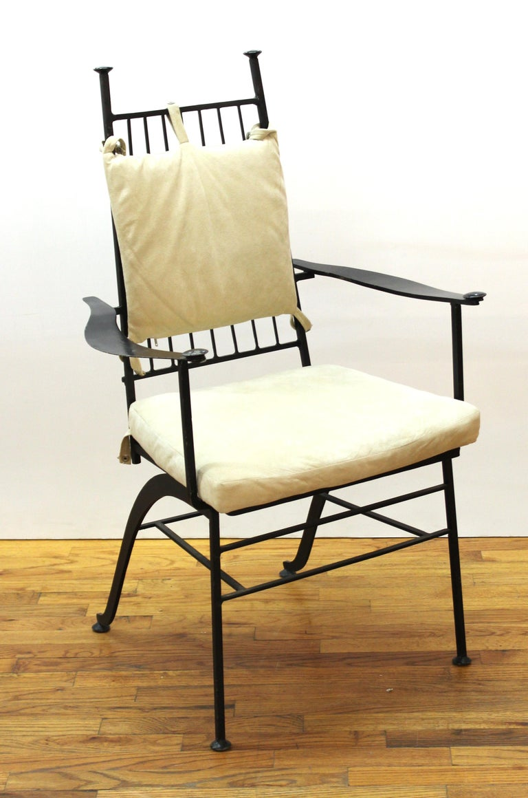 John Salterini For Woddard Mid-Century Modern Iron Patio Chairs For Sale 7