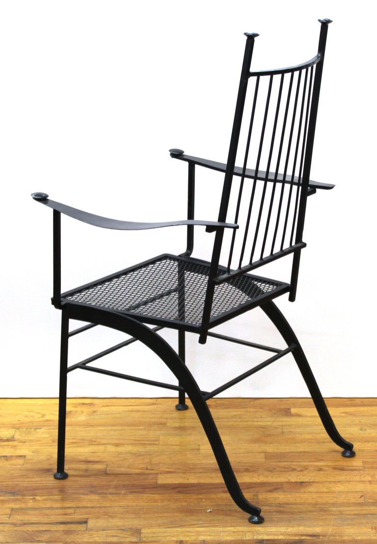 20th Century John Salterini For Woddard Mid-Century Modern Iron Patio Chairs For Sale