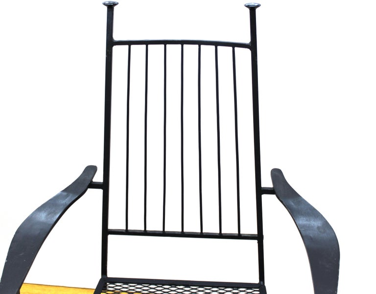 Upholstery John Salterini For Woddard Mid-Century Modern Iron Patio Chairs For Sale
