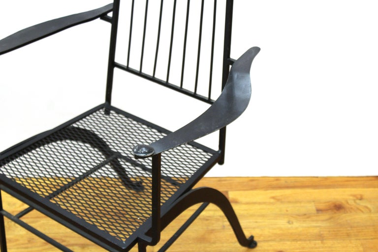 John Salterini For Woddard Mid-Century Modern Iron Patio Chairs For Sale 1