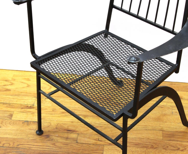 John Salterini For Woddard Mid-Century Modern Iron Patio Chairs For Sale 2