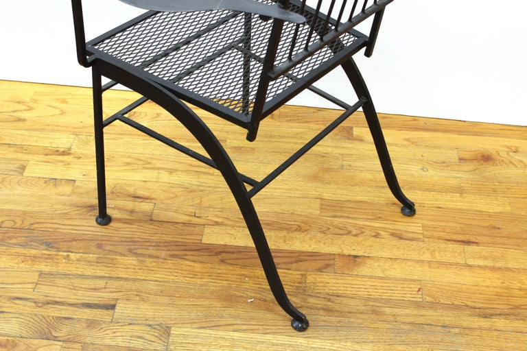 John Salterini For Woddard Mid-Century Modern Iron Patio Chairs For Sale 3