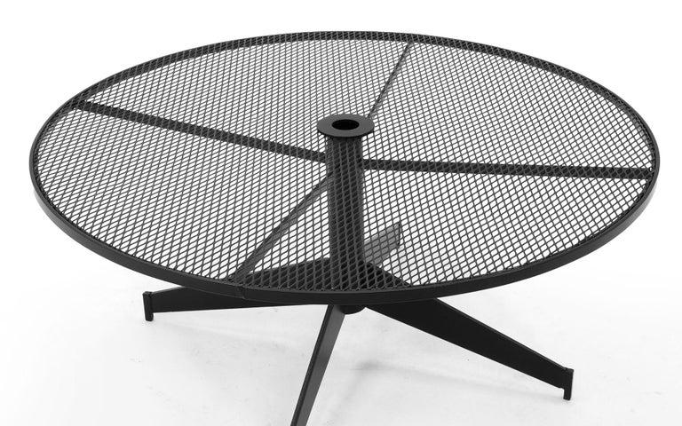 Mid-Century Modern John Salterini Outdoor Coffee Table, Professionally Powder Coated, Satin Black For Sale