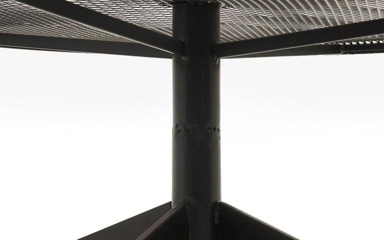 Powder-Coated John Salterini Outdoor Coffee Table, Professionally Powder Coated, Satin Black For Sale