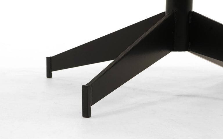 John Salterini Outdoor Coffee Table, Professionally Powder Coated, Satin Black In Good Condition For Sale In Kansas City, MO