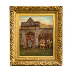 The Old Gateway by John Seymour Lucas, Signed, Oil on Canvas, English Artist