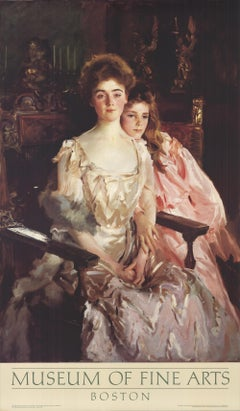 "JOHN SINGER SARGENT Mrs. Fiske Warren and Her Daughter 34.25"" x 20"" Offset"