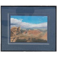 Surrealist Grand Canyon Landscape with Gargoyle