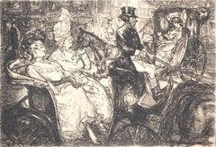 New York, Fith Avenue Critics - Original etching (Morse #128)