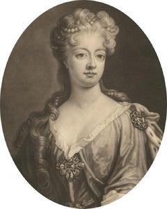 John Smith (1652-1743) after Hirschmann - 1706 Mezzotint, Sophia Dorothea