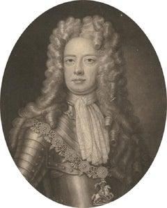 John Smith (1652-1743) after Kneller - 1705 Mezzotint, John, Duke of Marlborough